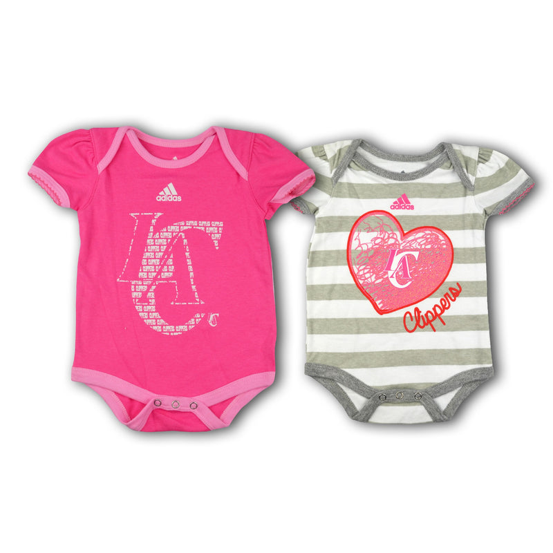 Adidas Baby girl 2 tshirts Pink And Stripes