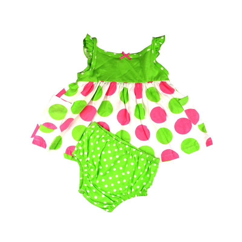 Gerber Baby Girls' Green Polka Dot 2 Piece Set
