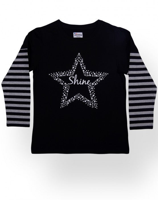 Ventra Girls Shine Star Printed Top