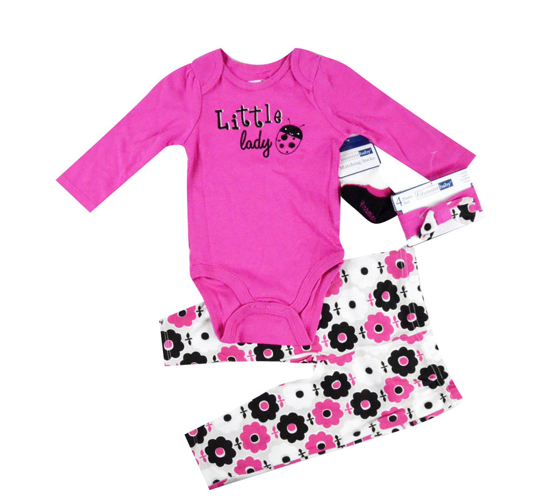 Vitamins baby Baby girl Little lady 4 piece set