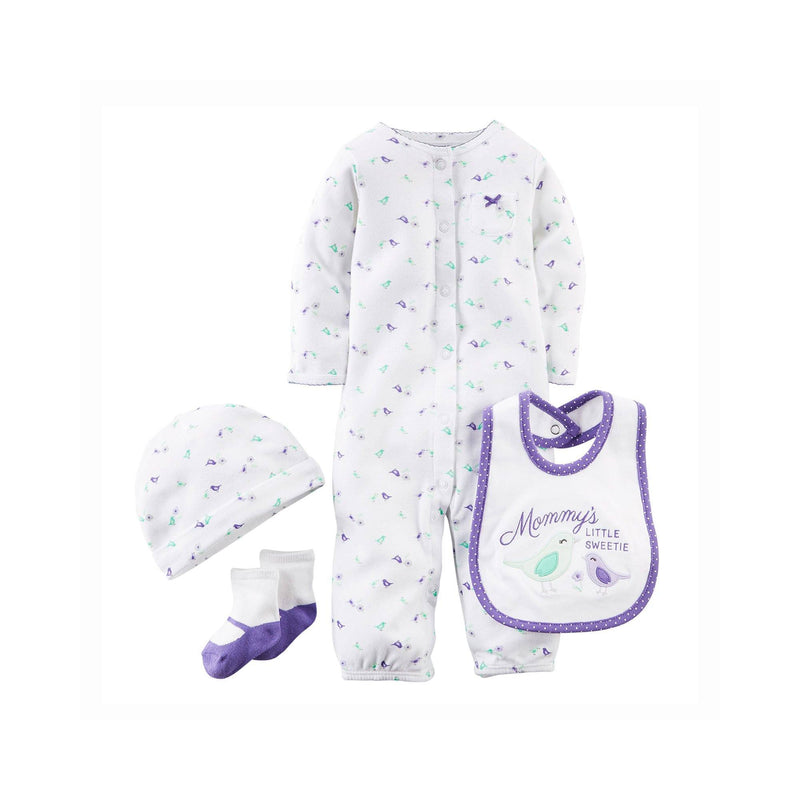 Carter's Baby Girls' 4 Piece Layette Set