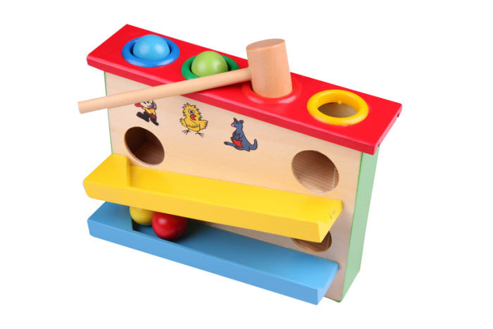 Munchkinz Prime Wooden Knock The Ball Falls Down the Slide Set Childrens Educational Toys