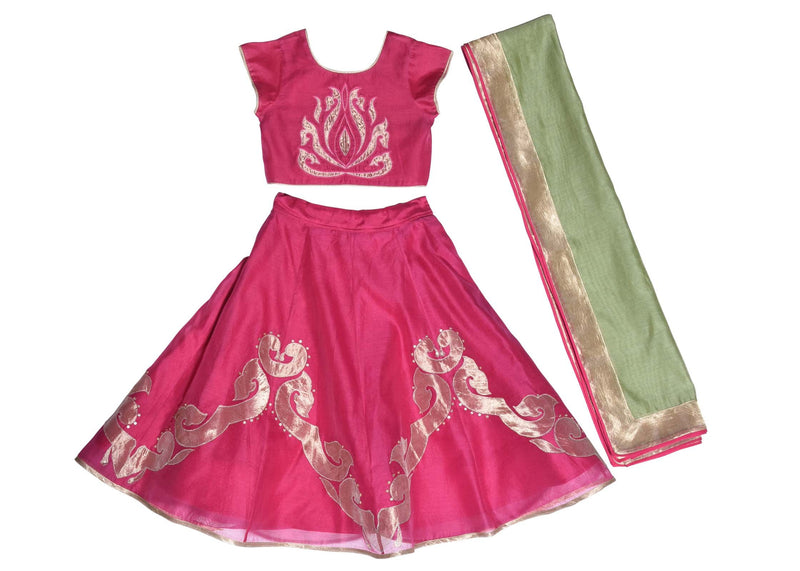 Pink Inlay Applique Lehenga from Nee & Oink