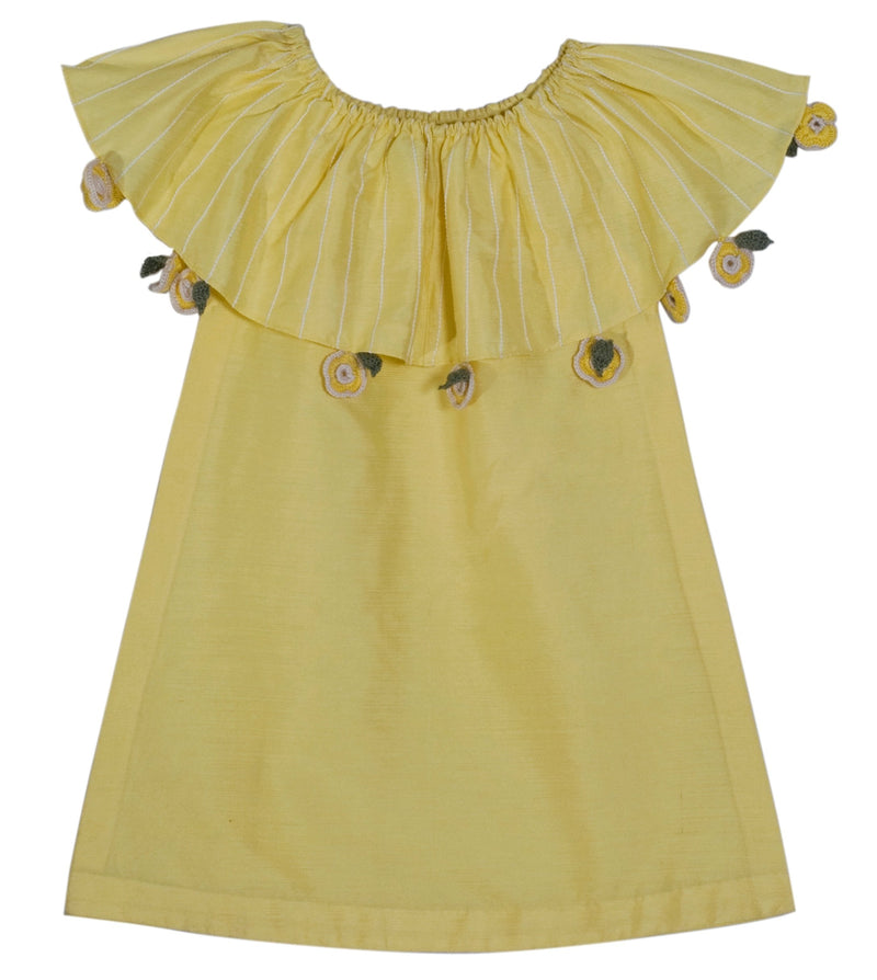 Lemon Yellow Soul Blossom Dress from Nee & Oink
