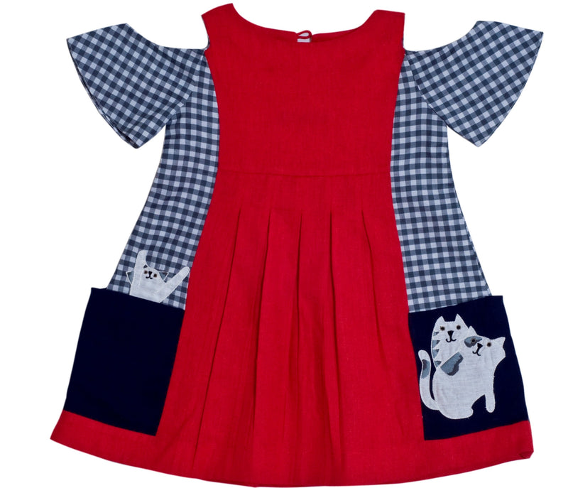 Red Cattitude Dress from Nee & Oink