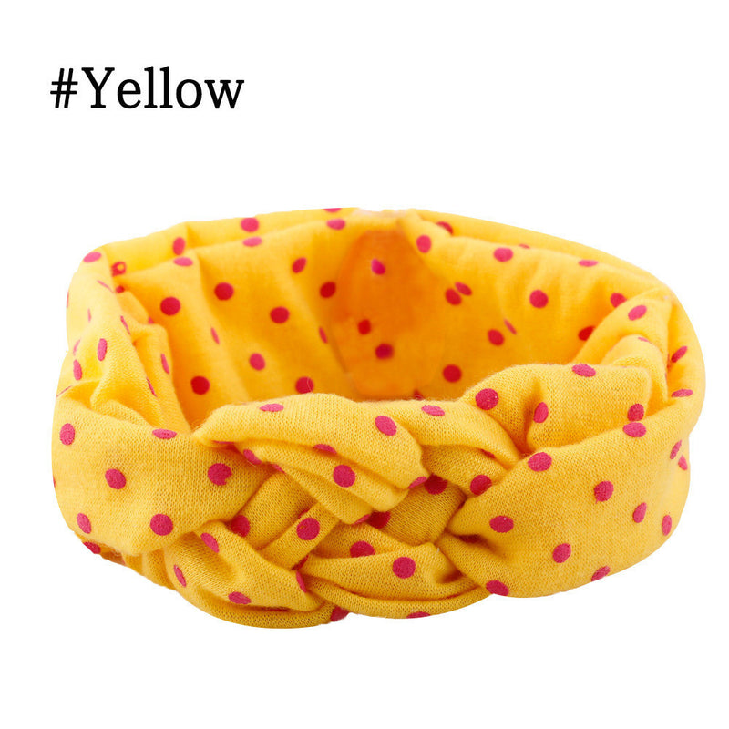 Meemu Girls' Yellow and Pink Knotty Mischief Headband