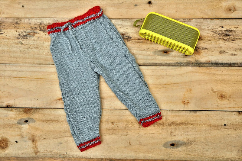 Nappy Monster Pants with Red side panel, Grey