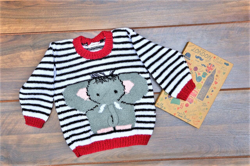 Nappy Monster Sweater with Elephant face