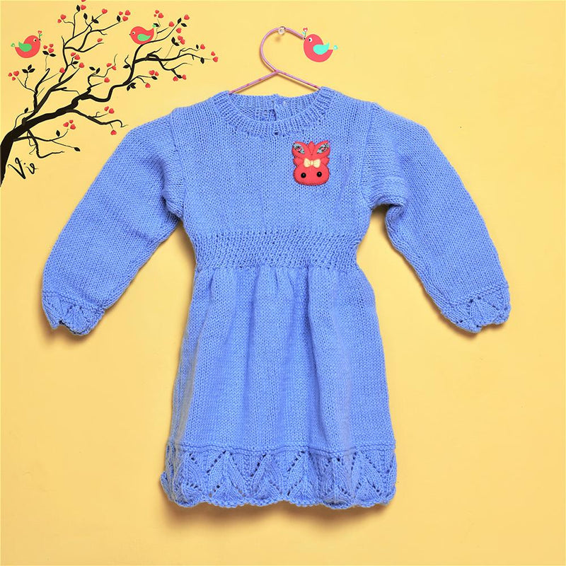 Nappy Monster Knit full Sleeves Frock