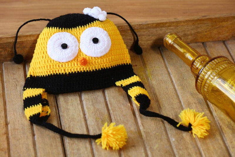 Nappy Monster Yellow and Black Bee Cap