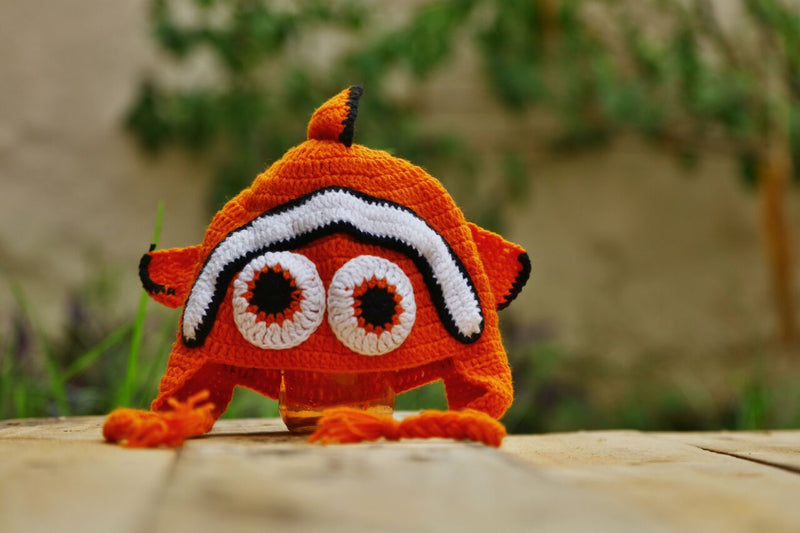 Nappy Monster Orange Nemo Fish Cap