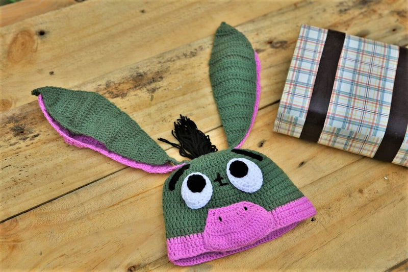 Nappy Monster Cute Green and Purple Donkey Cap