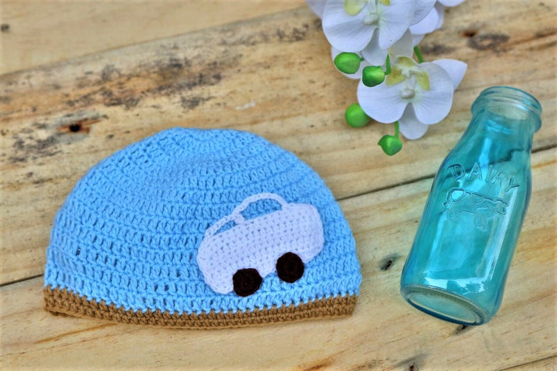 Nappy Monster Blue Cap with Car Patch