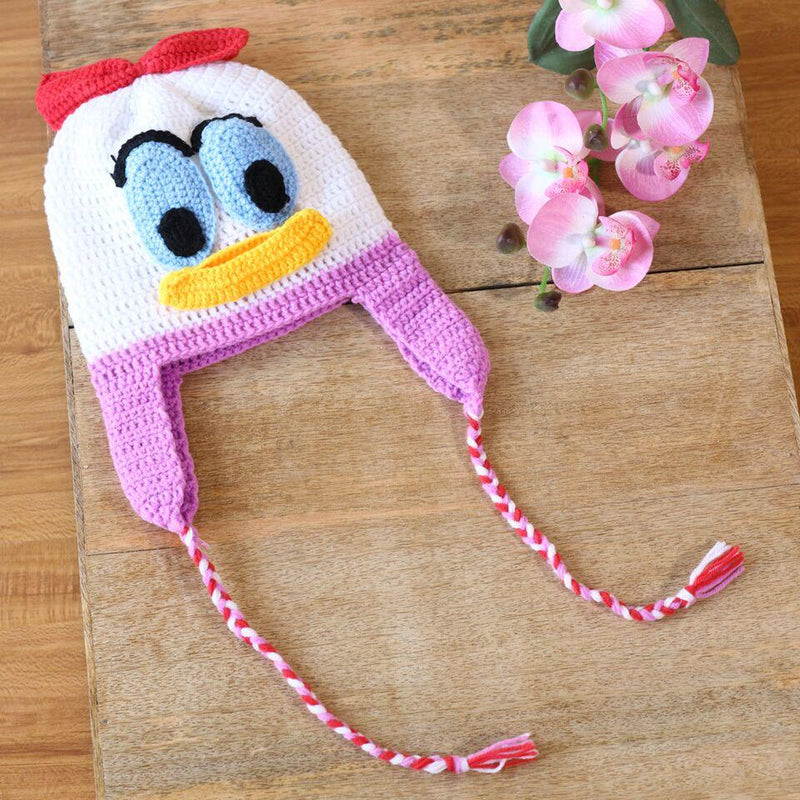 Nappy Monster Duck Cap - White and Pink
