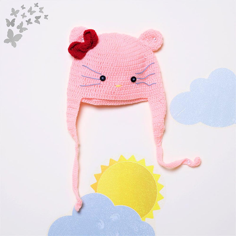 Nappy Monster Light Pink Kitty Cap