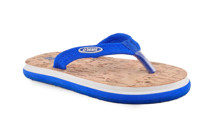 Beanz Domnic Royal Blue and Sand Brown Flip Flops