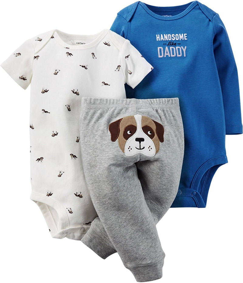 Carter's Baby Boy's 3-piece Bodysuit & Pant Set Puppy