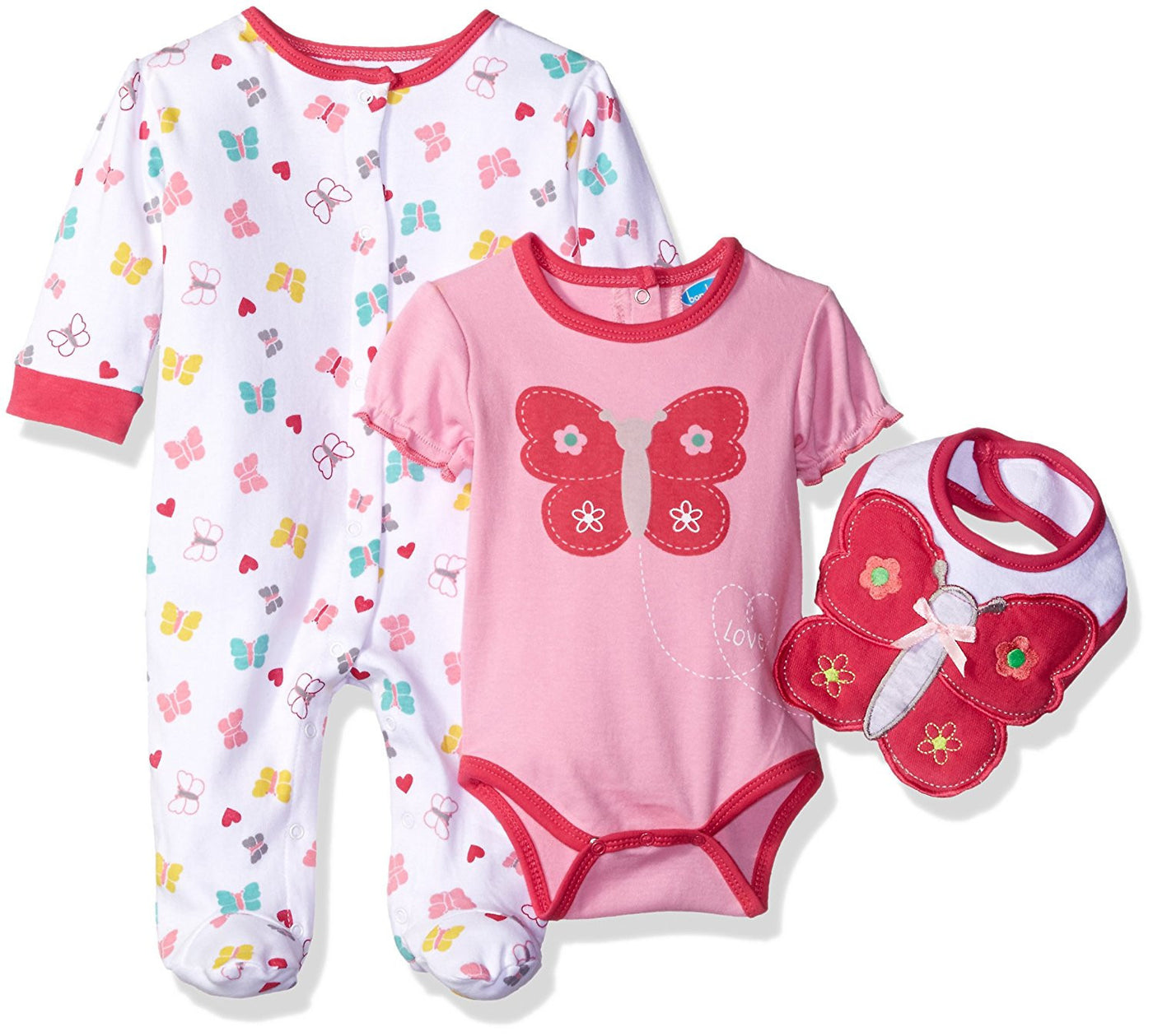 Bon Bebe Girls Pink and White Take Me Home Coverall Rear Snap Bodysuit –  Munchkinz 1f920d592