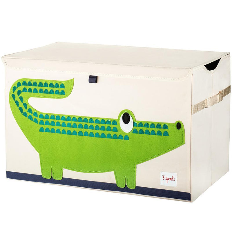 3 Sprouts Toy Chest - Green Crocodile
