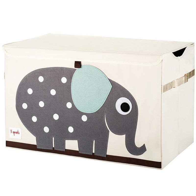 3 Sprouts Toy Chest - Grey Elephant