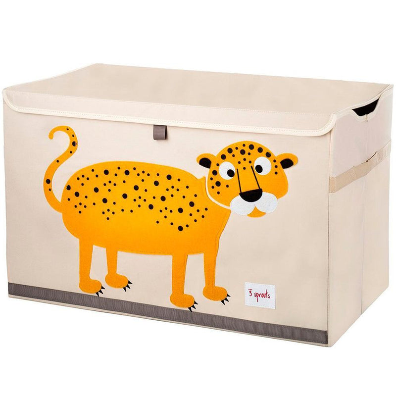 3 Sprouts Toy Chest - Orange Leopard