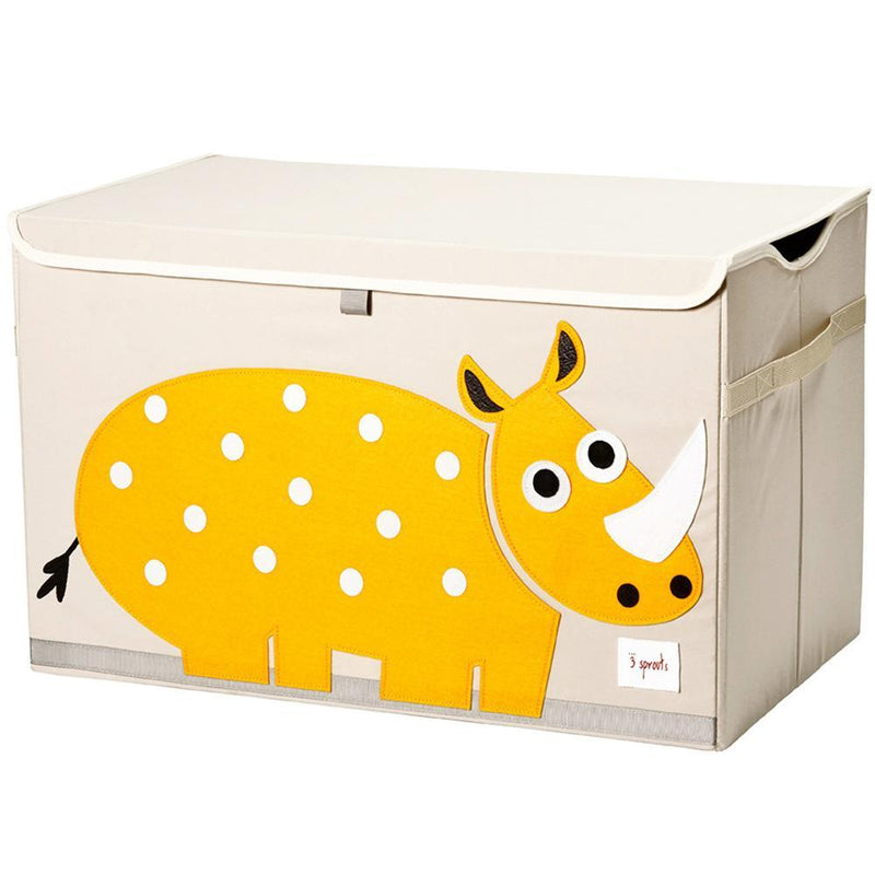 3 Sprouts Toy Chest - Yellow Rhino