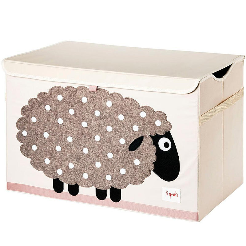 3 Sprouts Toy Chest - Beige Sheep