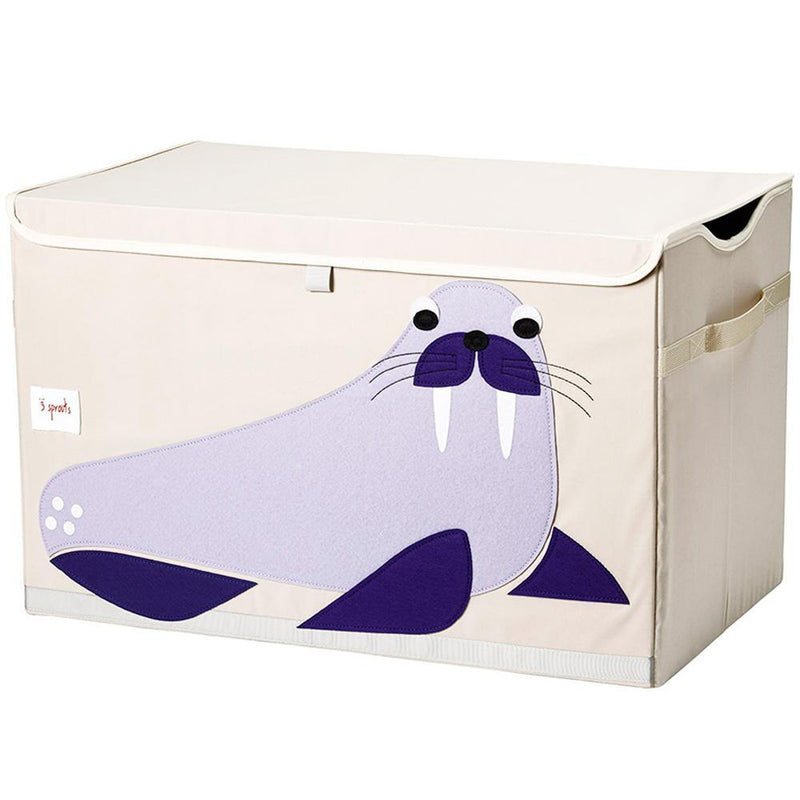 3 Sprouts Toy Chest - Blue Walrus