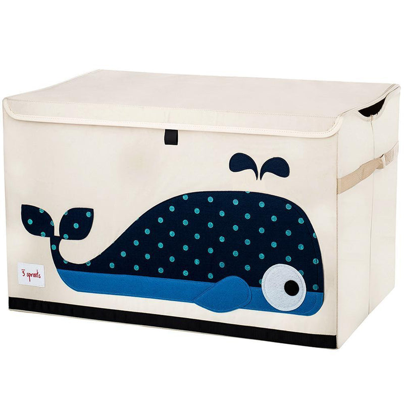 3 Sprouts Toy Chest - Blue Whale