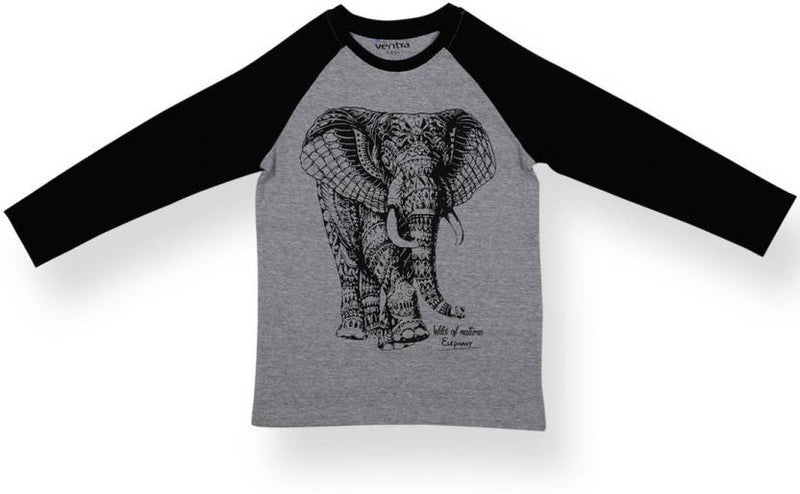 Ventra Boys Elephant Printed T-shirt