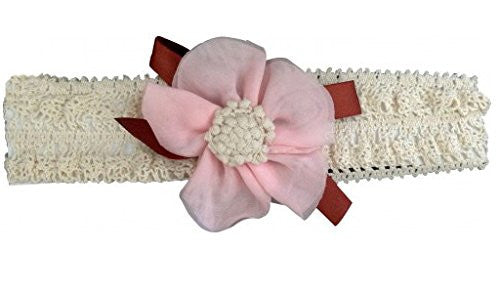 AkinosKIDS Pink Innocent Floral Ribbon Headband