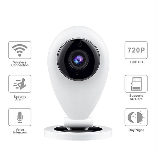 Munchkinz Wireless HD IP Wifi Baby Security CCTV Camera System (Inbuilt Mic & Supports Micro Sd Card With 2 Way Audio Chat)