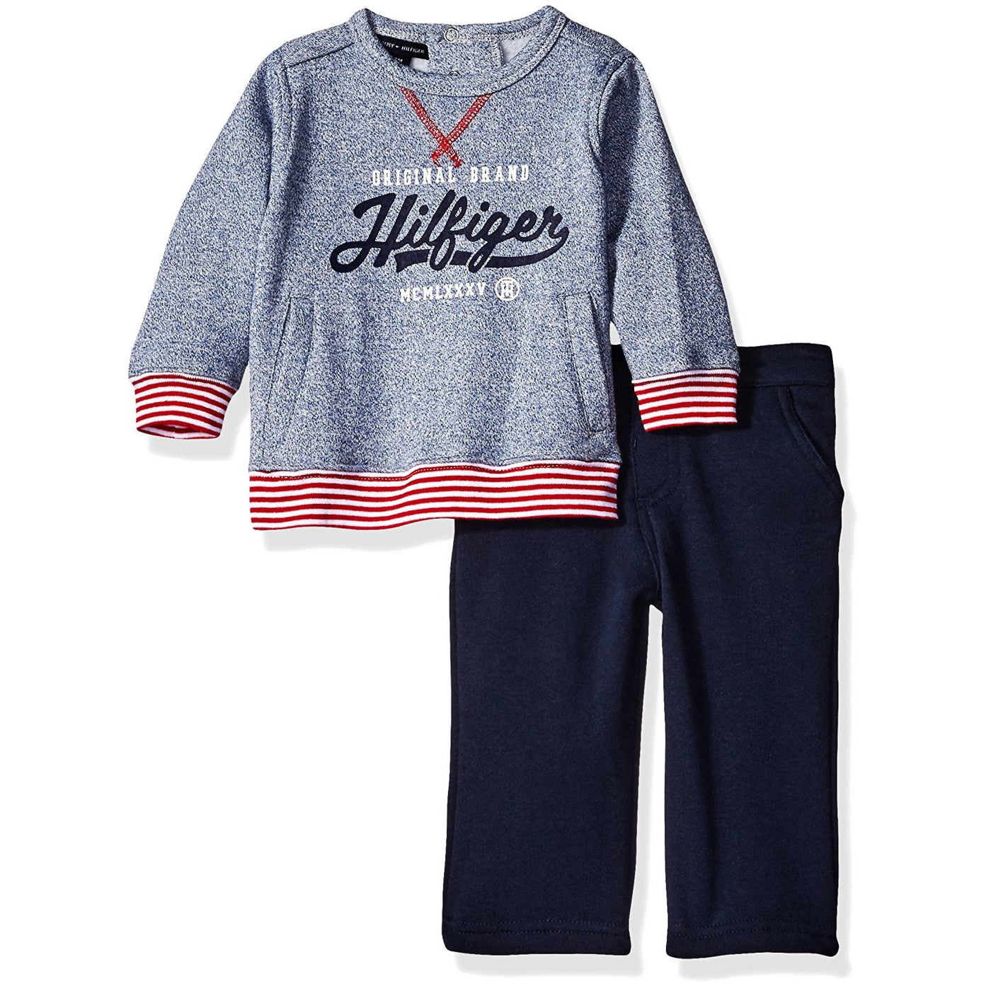 55ef79aa8848 Tommy Hilfiger Baby Boys  Pull Over with Pants Set – Munchkinz