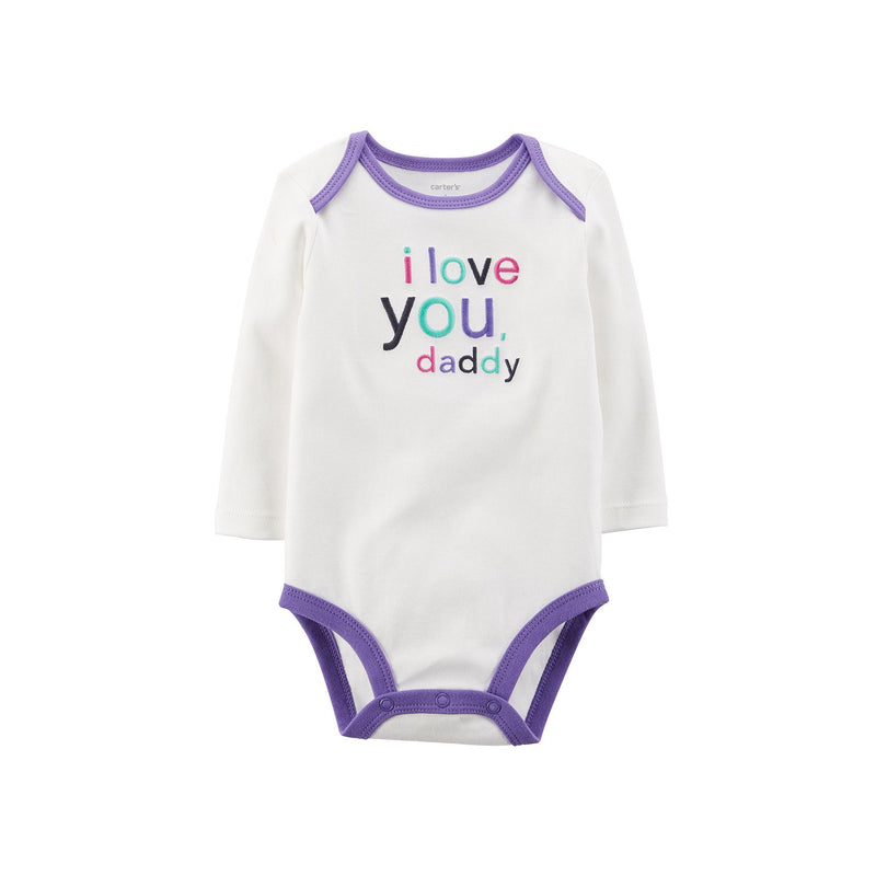 Carter's Baby Girls' Long-Sleeve Love Daddy Bodysuit