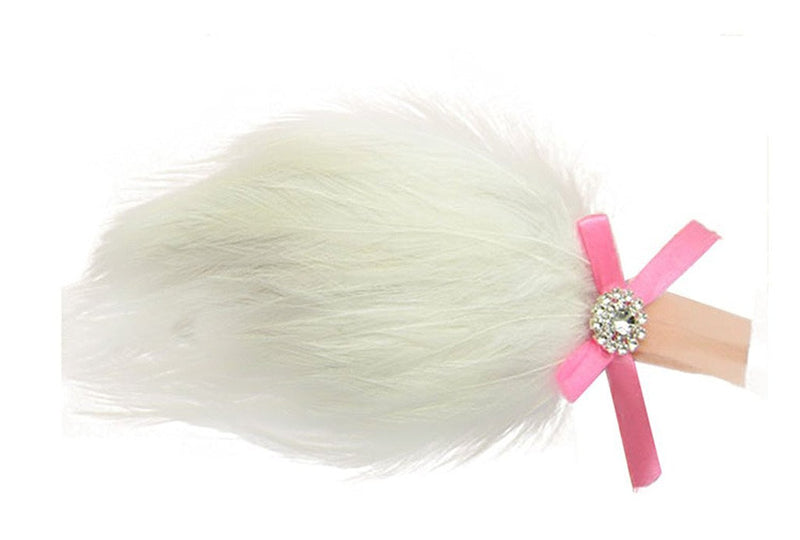 AkinosKIDS White Heavenly Fur Feather Headband
