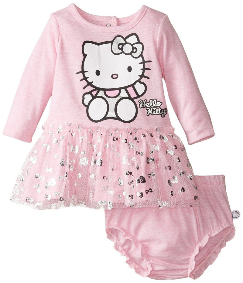Hello Kitty Baby Girls' Dress, Sugar Plum, 3 Months