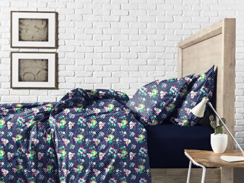 Haus & Sie Navy Daffodil Bed in a Bag Bedding Set