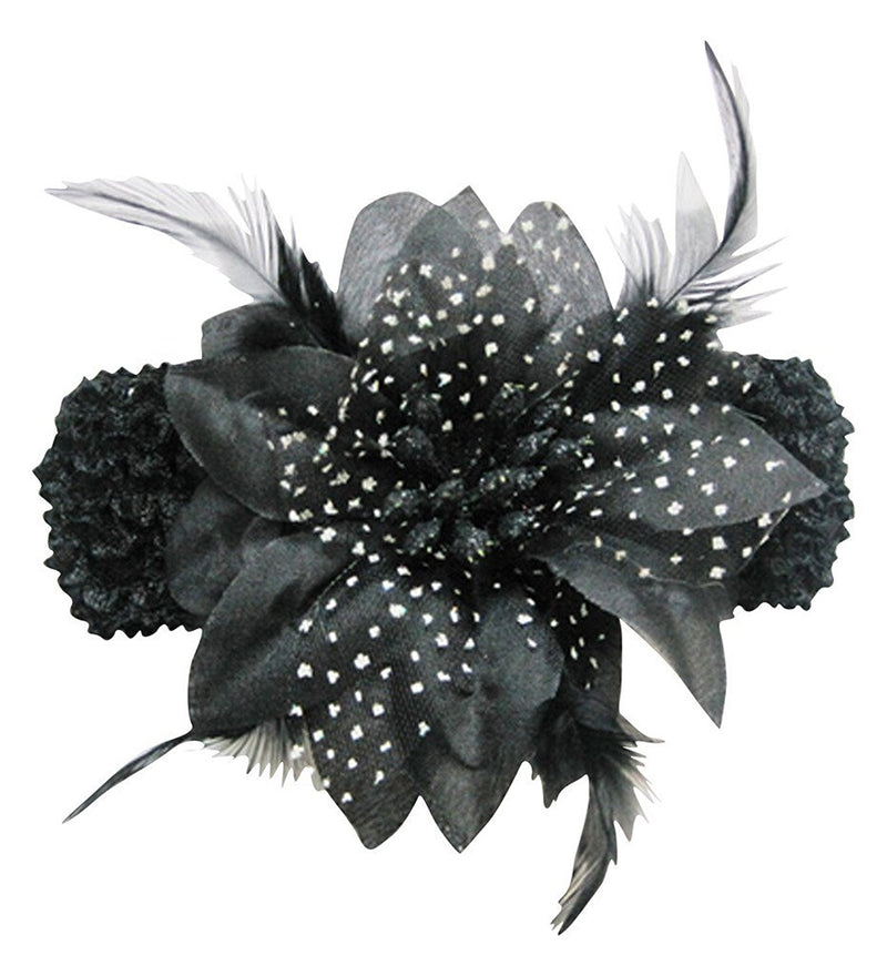 AkinosKIDS Black Orchid with Feathers Headband