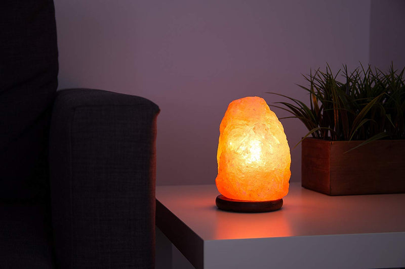 Organiac Natural Himalayan Rock Salt Lamp for Healing Benefits and Also Decoration with Bulbs & Electric Cord