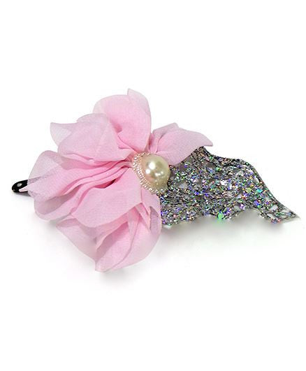 Aayera's Nest Pink Floral and Glitter Leaf Tic Tac Clip