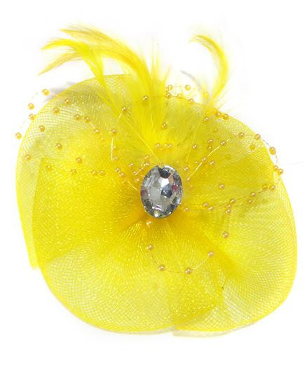 Aayera's Nest English Hat Style Yellow Tic Tac Clip