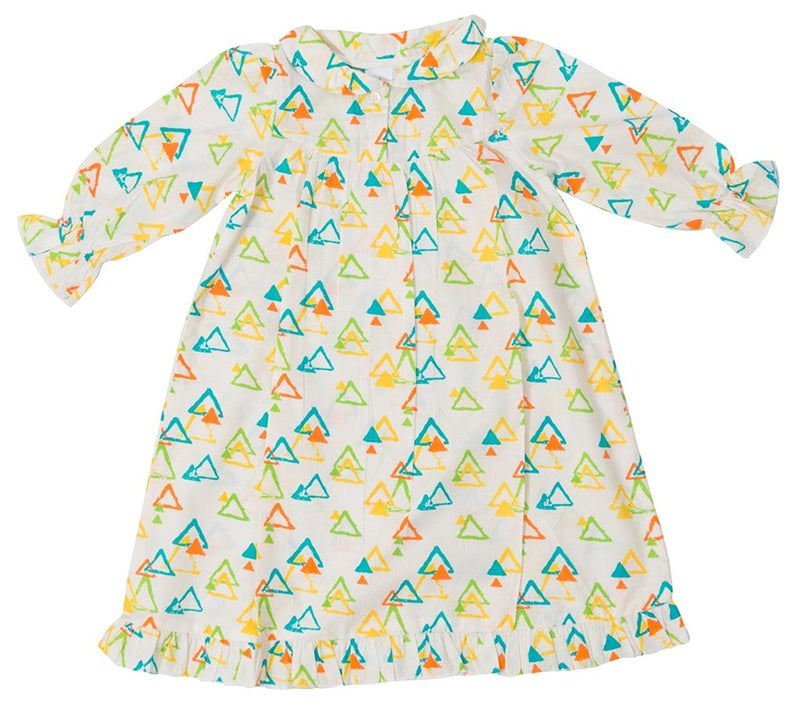 Little Bum Cotton Nightgown for Baby Girls - Colorful Triangles