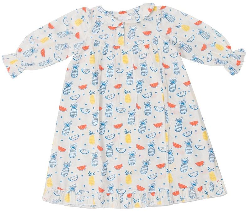 Little Bum Cotton Nightgown for Baby Girls - Colorful Fruits