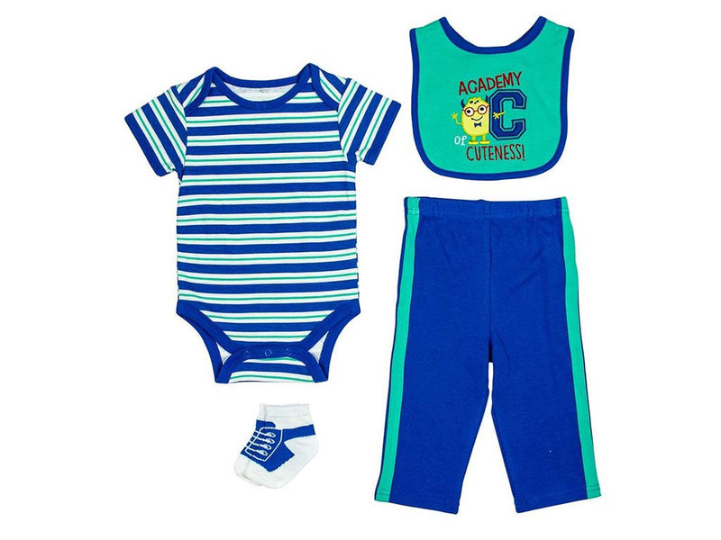 Cutie Pie Baby Boys Academy of Cuteness 4 Piece Layette Set