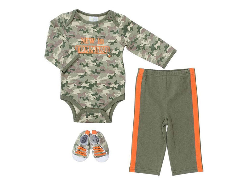 Baby Gear Baby Boys 3-pc Camouflage Bodysuit Set