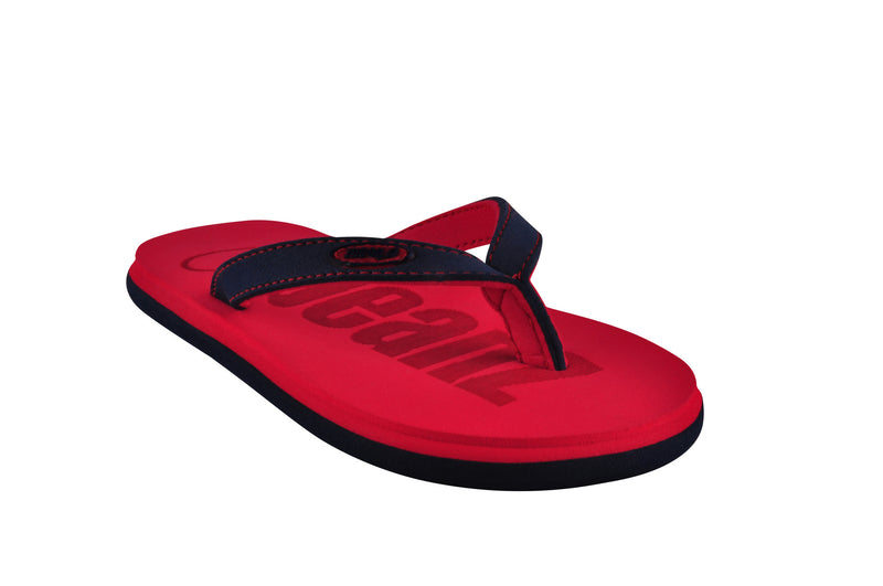 Beanz Carlin Red and Navy Flip Flops