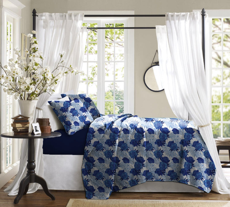 Haus & Sie Peony Blue Bed in a Bag Bedding Set