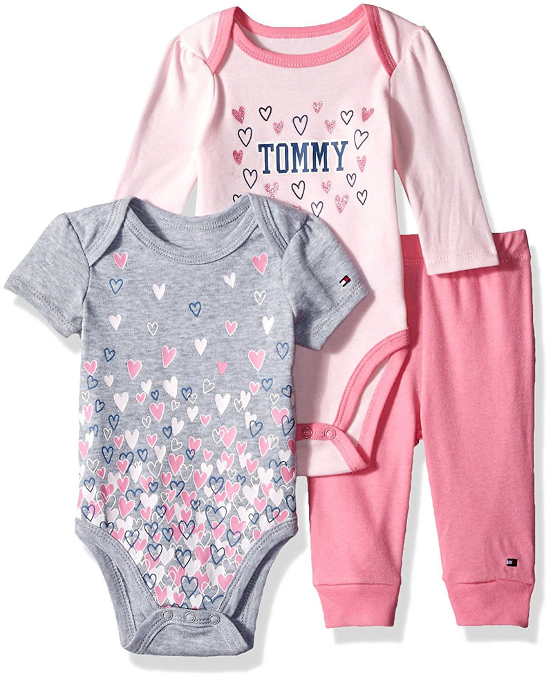 Tommy Hilfiger Baby Girls' 3 Piece Creeper Pants Set