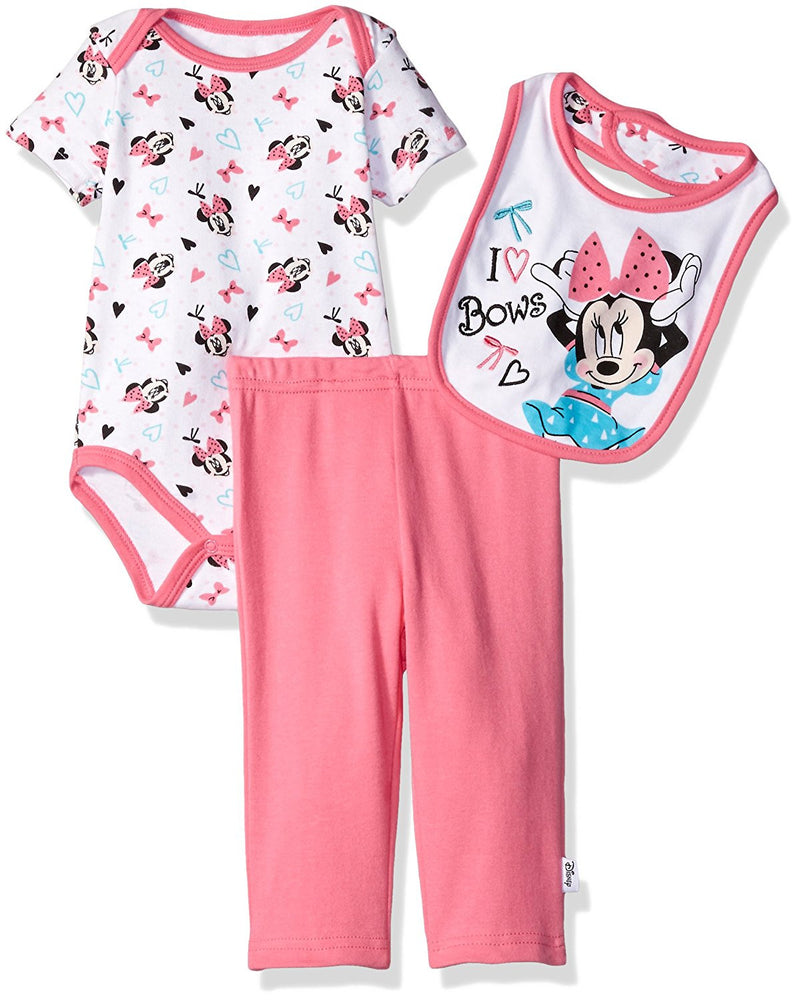 Sale Tagged Brand Disney Munchkinz Carters 3 Pieces Orange Mickey Mouse Baby Pink And White Girls Minnie I Love Bows Piece Bodysuit