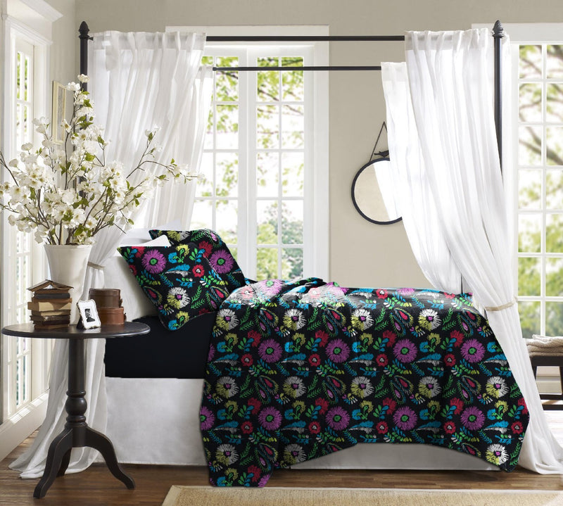 Haus & Sie Floral Scribble Bed in a Bag Bedding Set